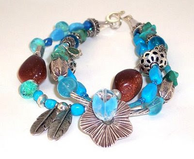 Turquoise and Sterling Bracelet - for BBW