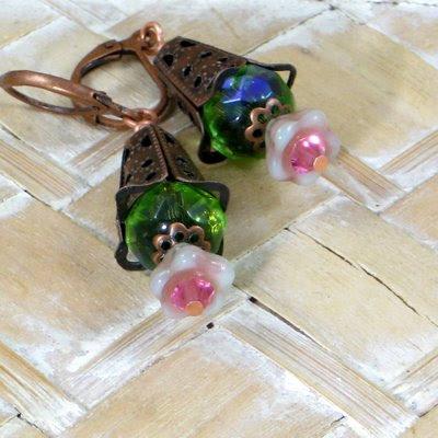 Glass Menagerie Cupola Blossoms - Antique Copper Cutwork