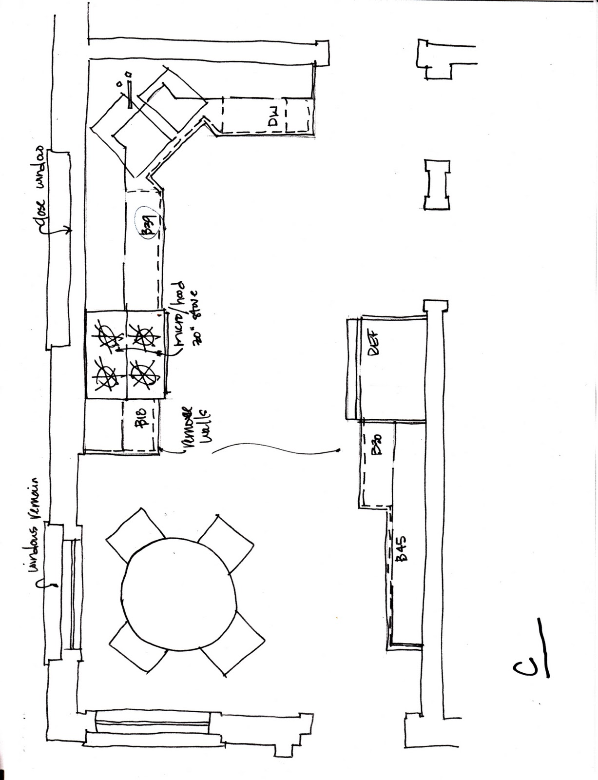 Small kitchen layouts plans afreakatheart for Kitchen floor plans