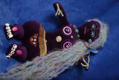 art dolls, shaman dolls, spirit dolls, camilla la mer, jungian art, swimming