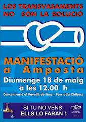 18 de maig: manifestació a Amposta