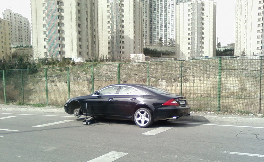 Iran supercars brand new mercedes benz cls on the side road for New mercedes benz supercar