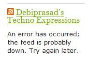WordPress RSS Feed Widget Error after Burning Feed