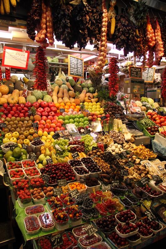 la Bouqueria market, la Rambla, Barcelona