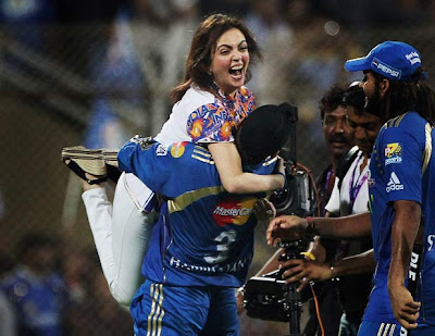 Harbhajan Singh with Nita Ambani Hot Photo