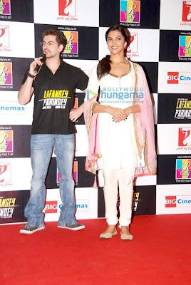 Deepika Padukone in Salawar Kameez Promotes Lafangey Parindey