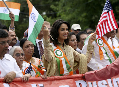 Mallika Sherawat pictures for India Day parade in New Jersey