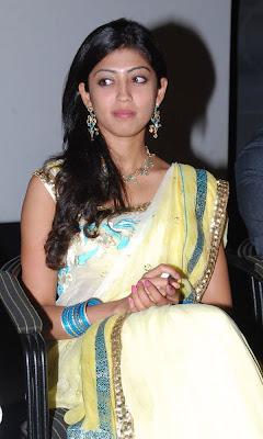 Praneetha looking cute in saree photo