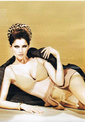 Laetitia Casta in Sexy Lingerie for Harper's Bazaar Magazine Photo