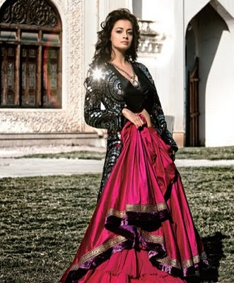 Dia Mirza Bridal Photo Shoot looking like Dulhan