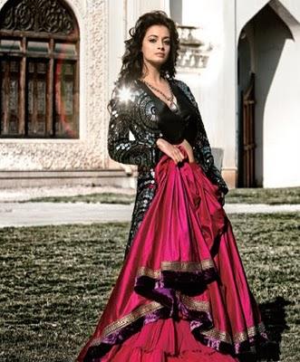 Dia Mirza Bridal Photo Shoot looking like Dulhan