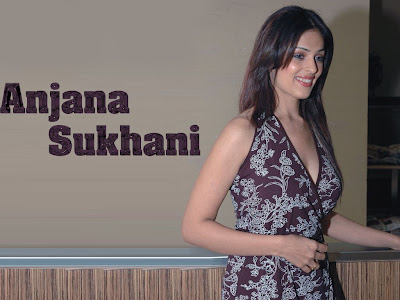 Hot Actress Anjana Sukhani show her secret of Skirt