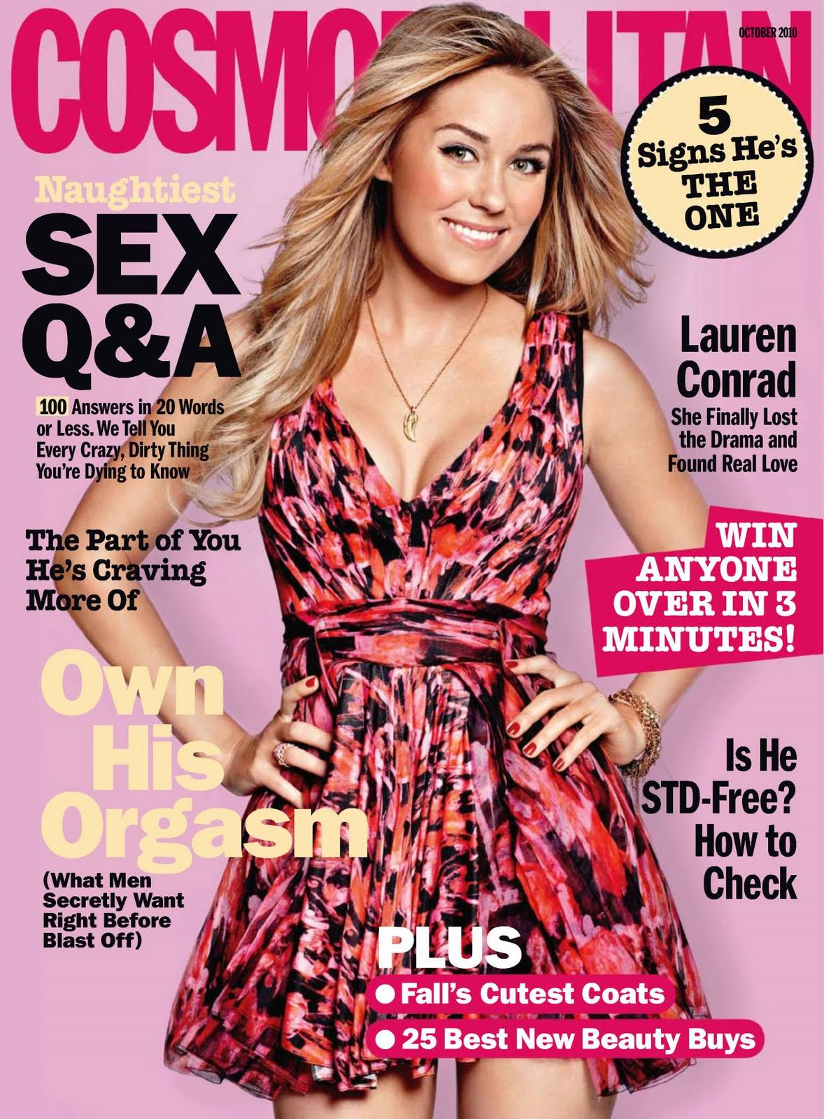 Lauren Conrad on the cover of Cosmopolitan Magazine