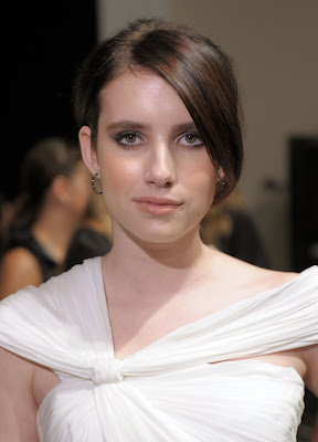 Emma Roberts is visit to Monique Lhuillier Spring 2011 Fashion Show