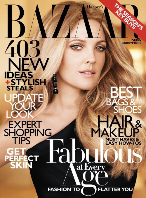 Drew Barrymore Harper's Bazaar October 2010