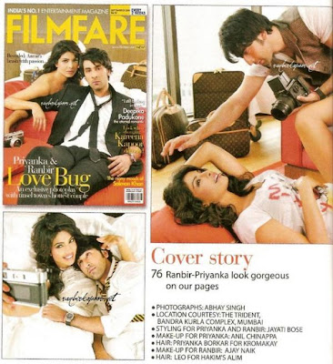 Ranbir-Priyanka on Filmfare Magazine Cover