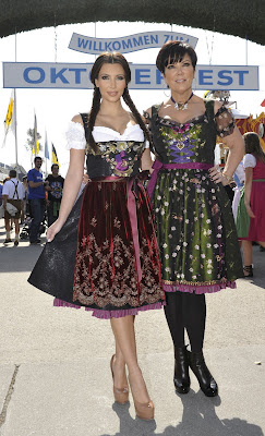 Kim Kardashian at Oktoberfest in Munich with here mum pictures