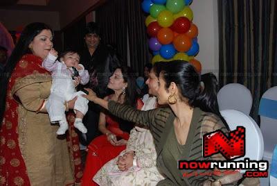 Jaya Bachchan and Sridevi visit @ Bappi Lahri's grand son Swastik's bday