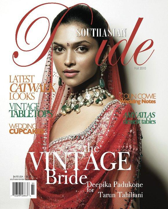 Deepika Padukone on South Asian Bride Magazine Oct 2010
