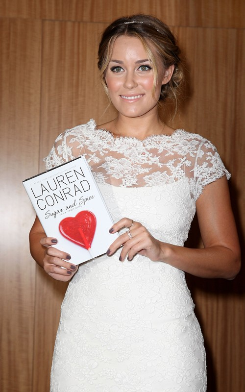 Lauren Conrad out at Barnes and Noble in NYC