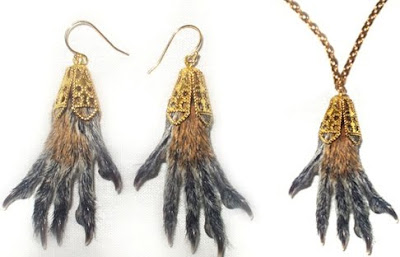 Top 10 Weirdest Gift - Real Squirrel Feet Earring or Necklace