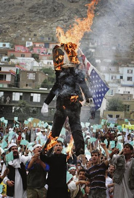 Dr Jones doll is burned in Kabul
