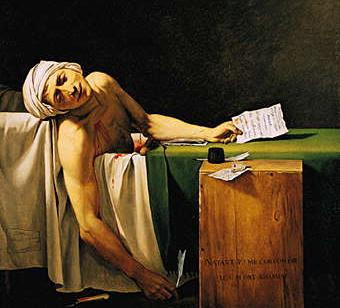 La Muerte de Marat de Jacques-Louis David