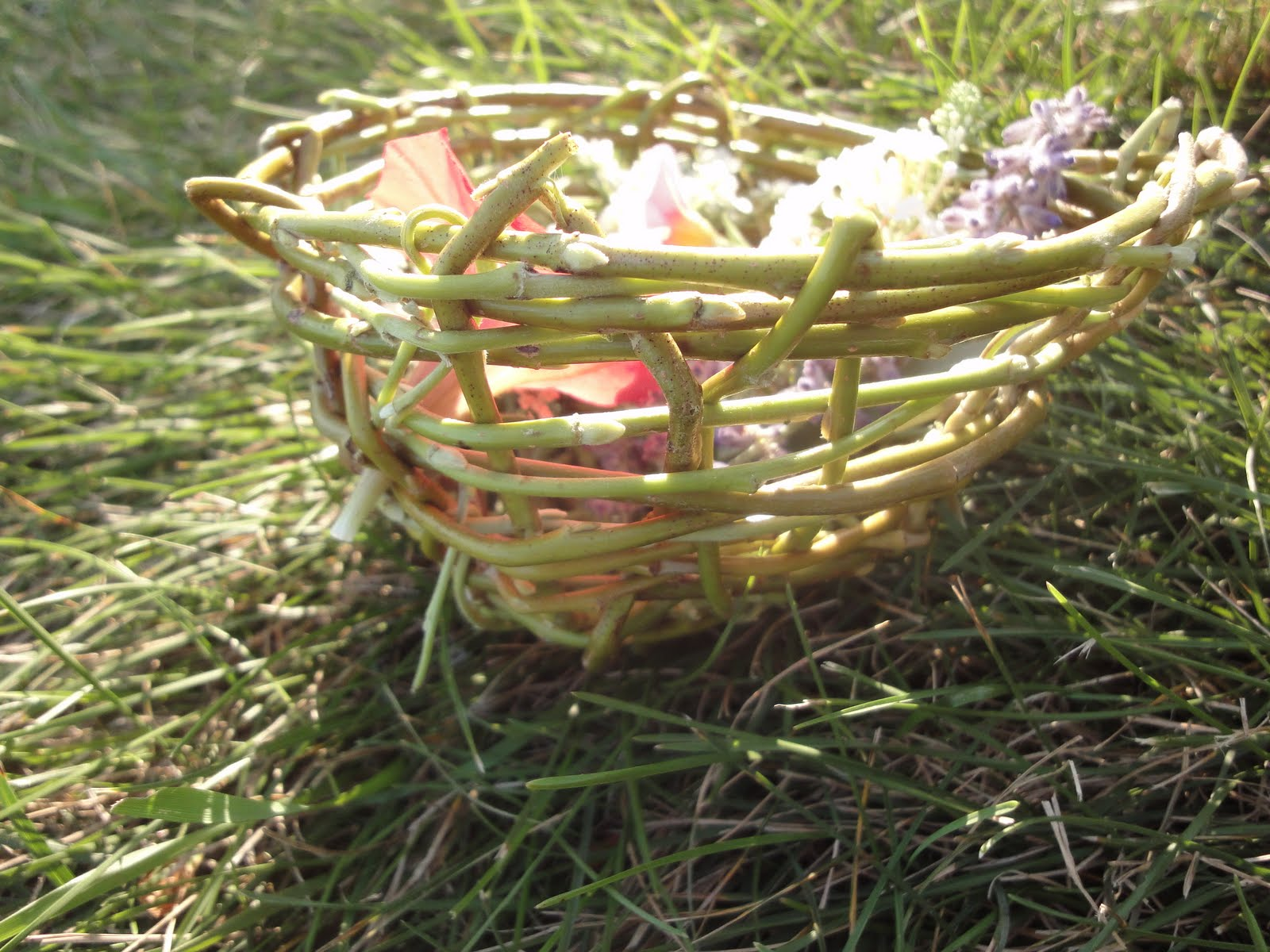 Basket Weaving With Willow Branches : Seasonal gnome basket weaving