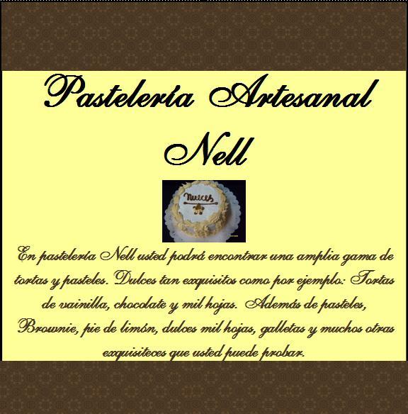 "Pasteleria Artesanal ""Nell"""