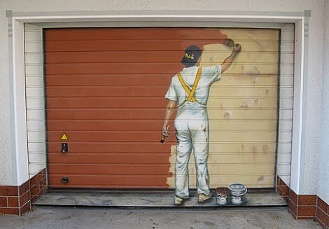 The presurfer april 2010 for Painted garage doors pictures