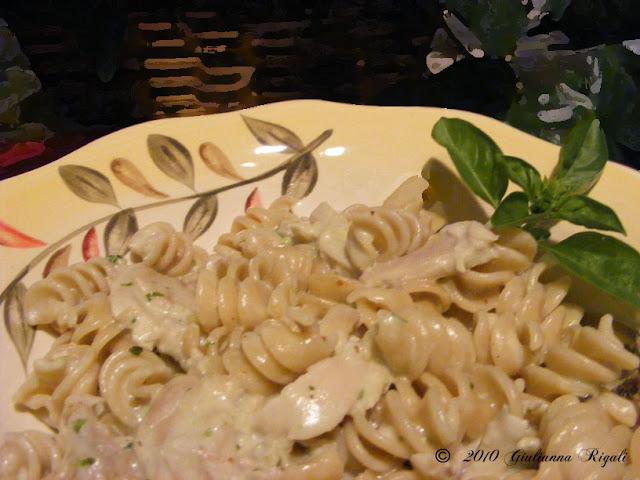 Pesto Alfredo Chicken Rotini Recipe