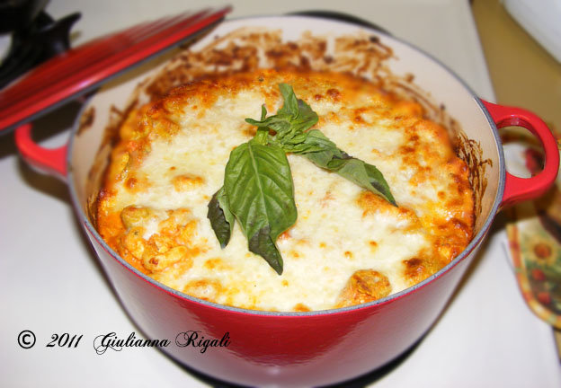 E-Z Breezy Cheesy Basil Baked Tortellini Recipe