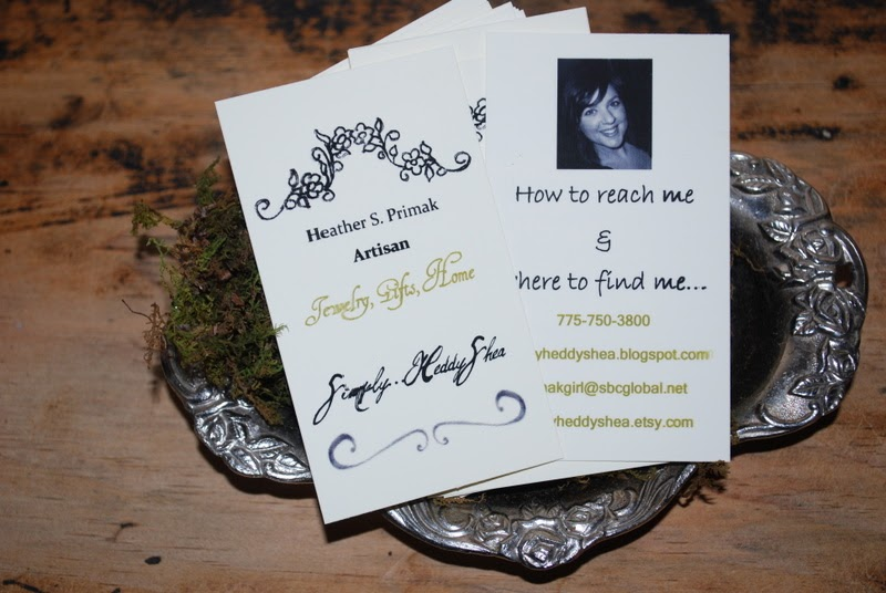 SimplyHeddyShea Make It Monday Homemade Business Cards