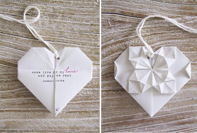 Famoso tren di nozze: Un invito origami AD63