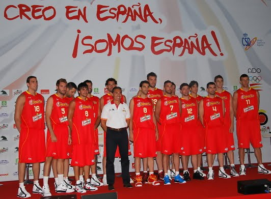 foto oficial de la selección española de baloncesto