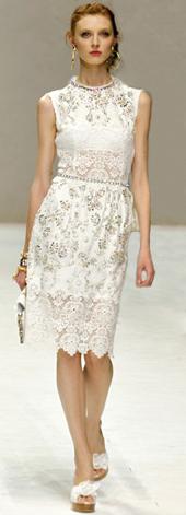 vestido primavera verano 2011 Dolce & Gabbana