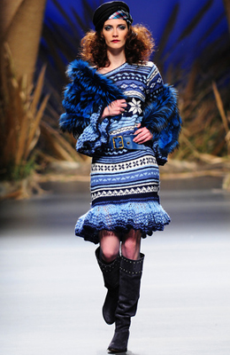 vestido de punto Francis Montesinos