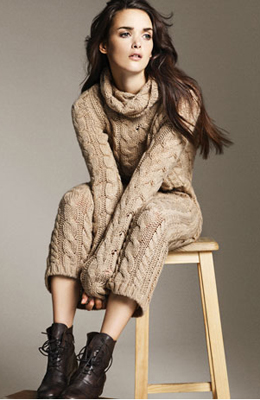 vestido de punto grueso Zara