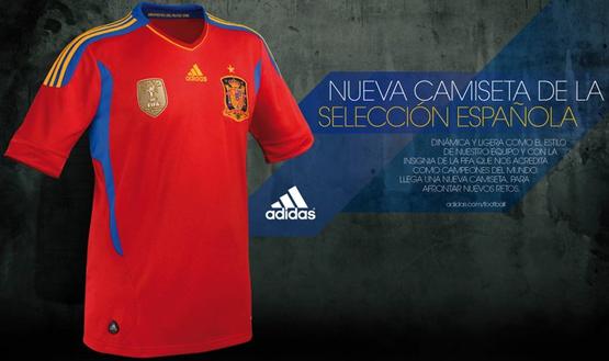 Spain jersey Adidas football 2011 2012
