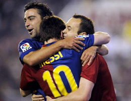 Xavi Messi Iniesta finalistas Balón de Oro 2010