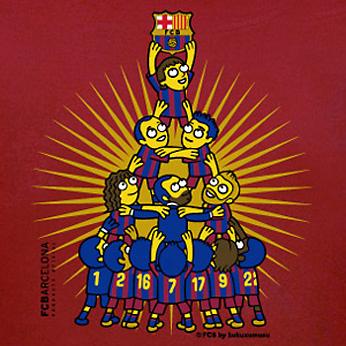 Camiseta oficial Fútbol Club Barcelona por Kukuxumusu