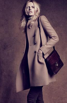 abrigo camel mujer Massimo Dutti