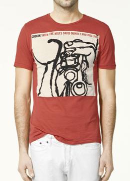 camiseta jazz Zara