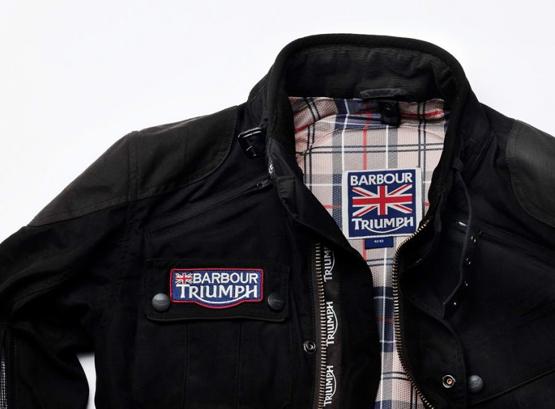 chaqueta motera Modern Internacional Barbour Triumph