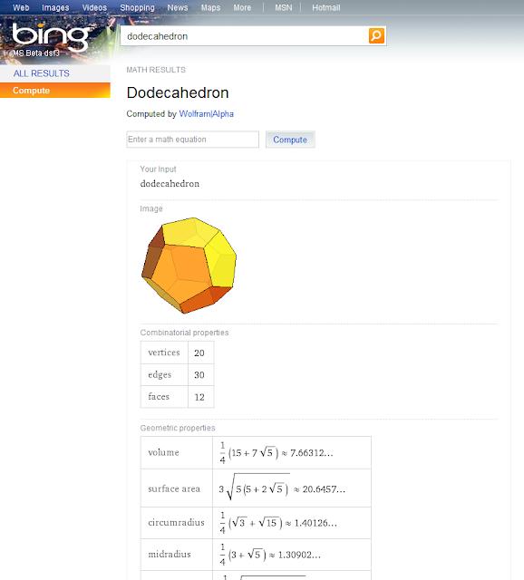 Bing integra funcionalidades de Wolfram Alpha