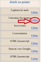 Hacer click en editar
