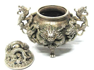 Silver Dragon Incensory, China''Style''