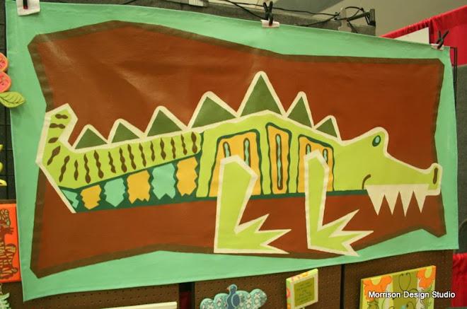 """Alligator """"Floor or Wall"""" Canvas Rug"""