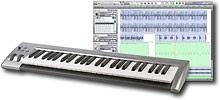 Keystation 49-Key Entry-Level USB MIDI Controller with Session Recording Software