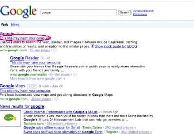 Google Errror: